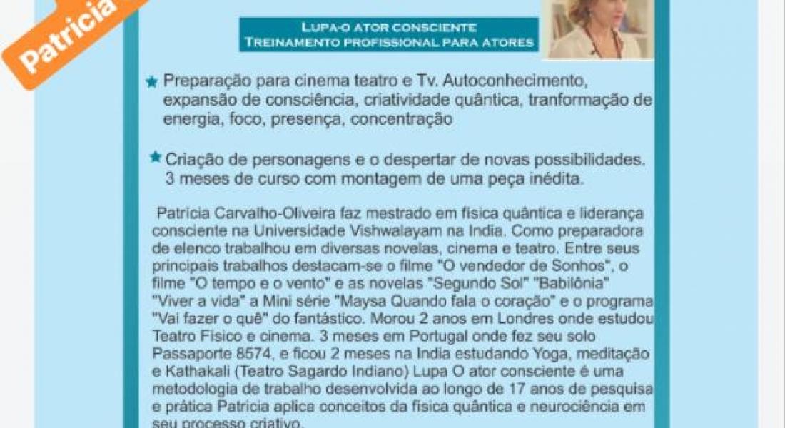 Workshop – Patrícia Carvalho